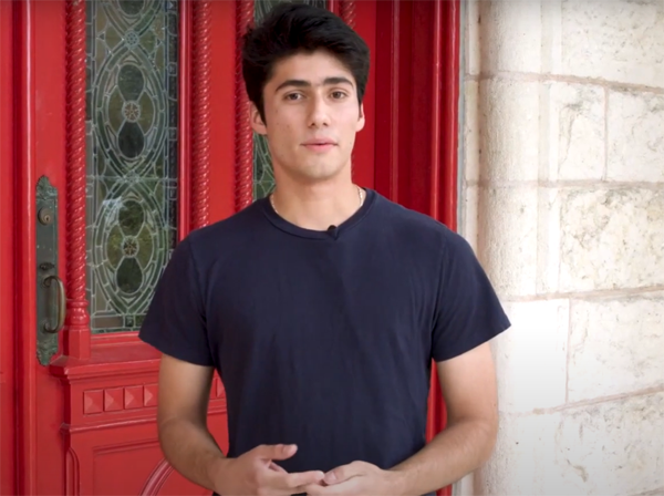 Nico Marín: Our ambassador at St. Edward's University