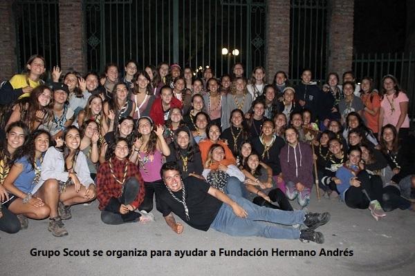 Grupo Scout se organiza para ayudar a adultos mayores de la Fundación Hermano Andrés